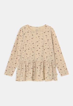 REYA FRILL  - Long sleeved top - beige