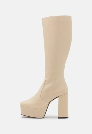 BOOT - Platform boots - ivory temesis/all beige