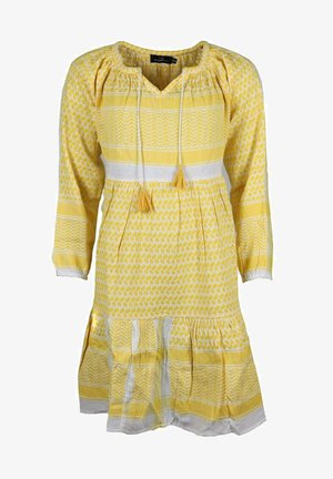 VALENTINA - Day dress - gelb weiß