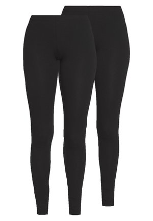PCMAJA 2 PACK - Leggings - Trousers - black