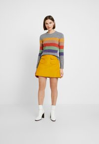 Benetton - ALINE MINI SKIRT - Áčková sukně - yellow - 1