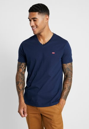 VNECK - T-shirts print - dress blues