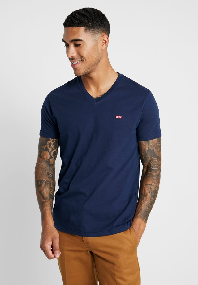 VNECK - T-shirt con stampa - dress blues