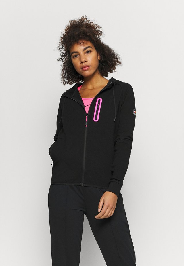 BEESON - Zip-up hoodie - black