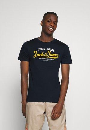 JJELOGO TEE - T-shirt imprimé - navy blazer