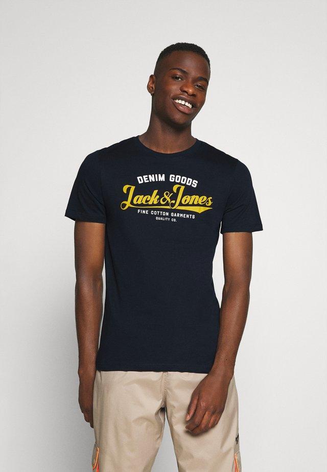 JJELOGO TEE - T-Shirt print - navy blazer