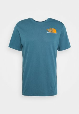 GRAPHIC TEE - Print T-shirt - mallard blue