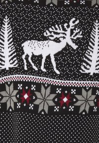 Pier One - WINTERY CHRISTMAS JUMPER  - Stickad tröja - black - 2