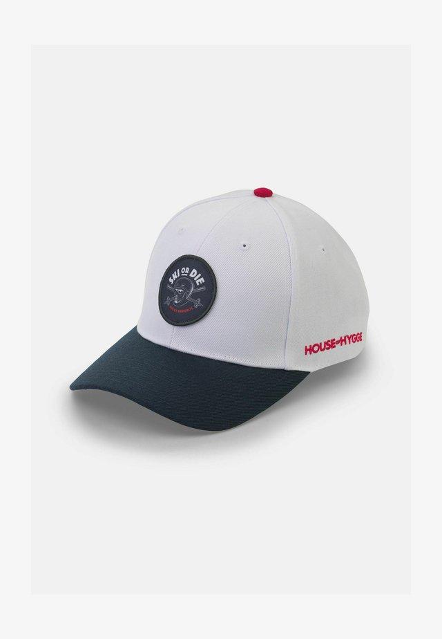 SKI OR DIE - Cap - hvit og blå