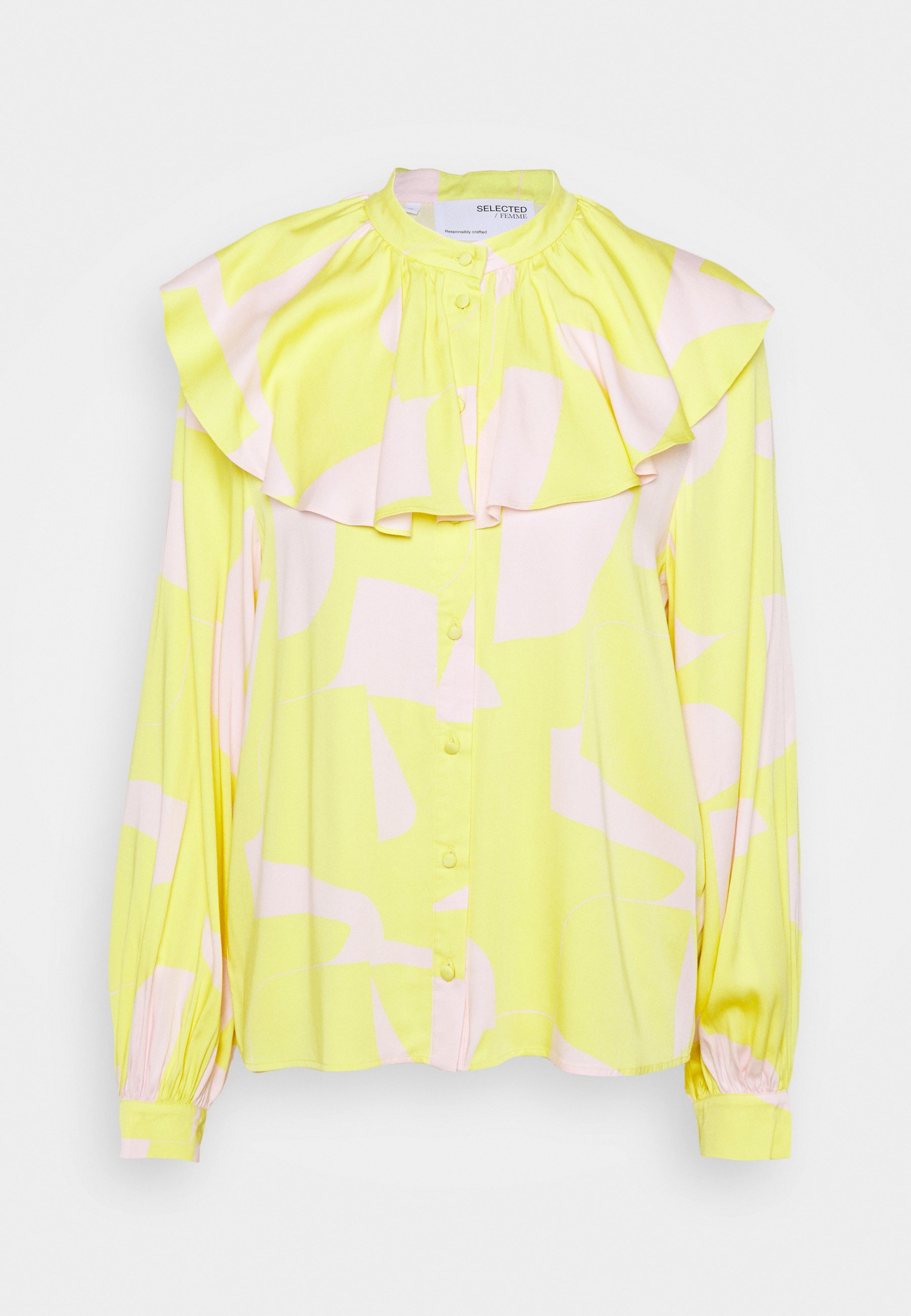 Women SLFCILLI FRILL COLLAR - Long sleeved top