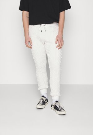 CABLE JOGGER - Trainingsbroek - off white