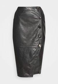 DERI - Pouzdrová sukně - black