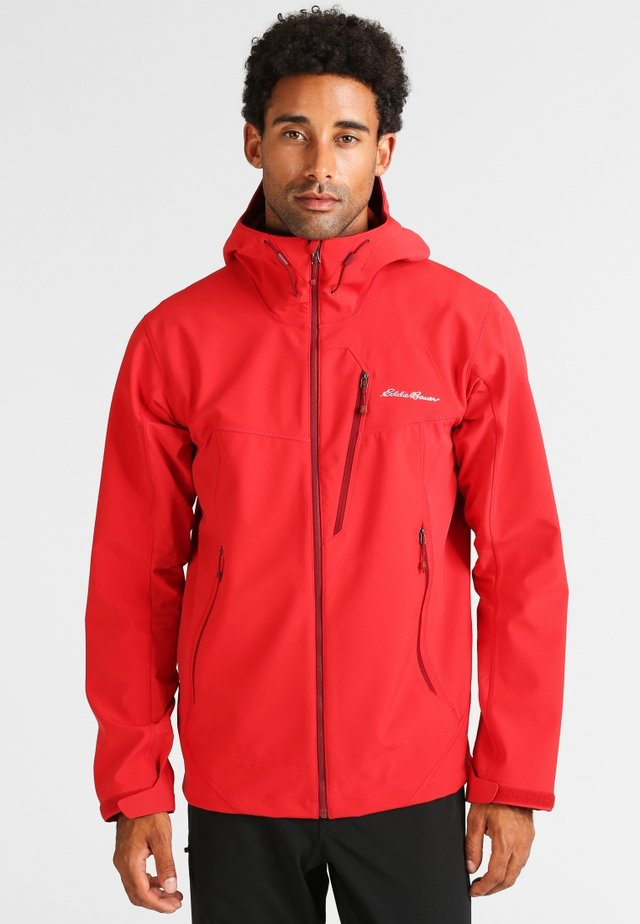 MIT KAPUZE - Soft shell jacket - red