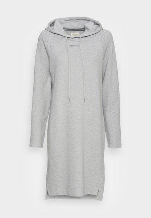 Korte jurk - white grey melange
