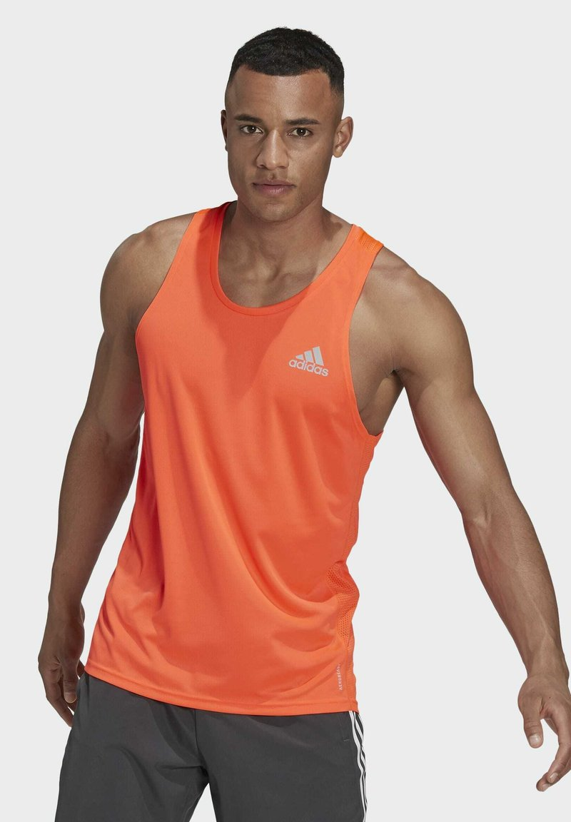 adidas Performance - OWN THE RUN SINGLET - Sports shirt - red