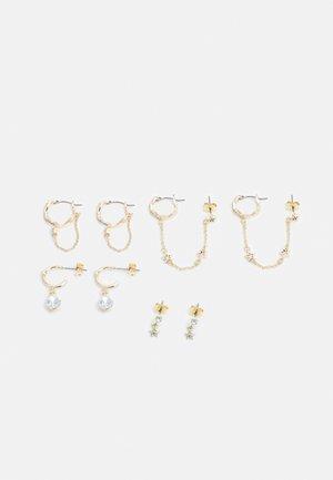 PCCLARA EARRINGS 4 PACK - Earrings - gold-coloured