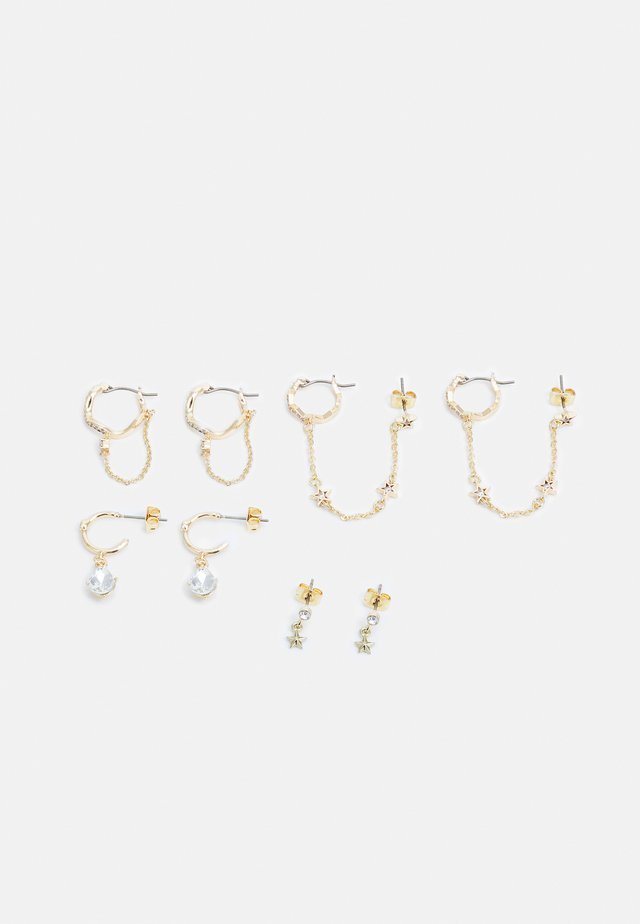 PCCLARA EARRINGS 4 PACK - Örhänge - gold-coloured