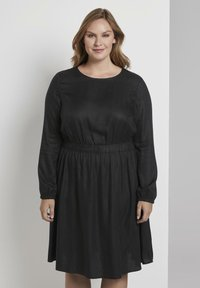 MY TRUE ME TOM TAILOR - FLUENT ELASTIC WAIST DRESS - Day dress - black - 0