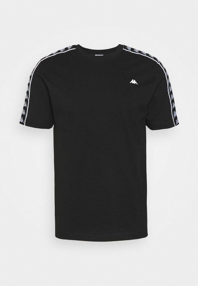 HANNO TEE - T-shirt imprimé - caviar