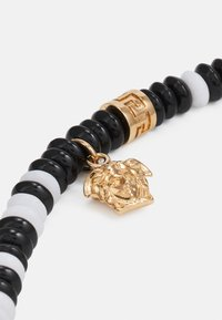 Versace - NECKLACE BEADED MEDUSA - Necklace - bianco/nero/gold-coloured - 2