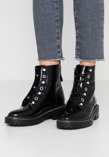 ONLBOLD LACE UP BOOTIE - Lace-up ankle boots - black