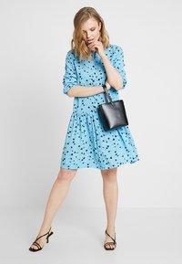 Moss Copenhagen - FRYD TURID DRESS - Shirt dress - blue/black - 1