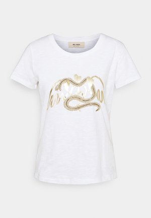 VEE TEE - Print T-shirt - bright white