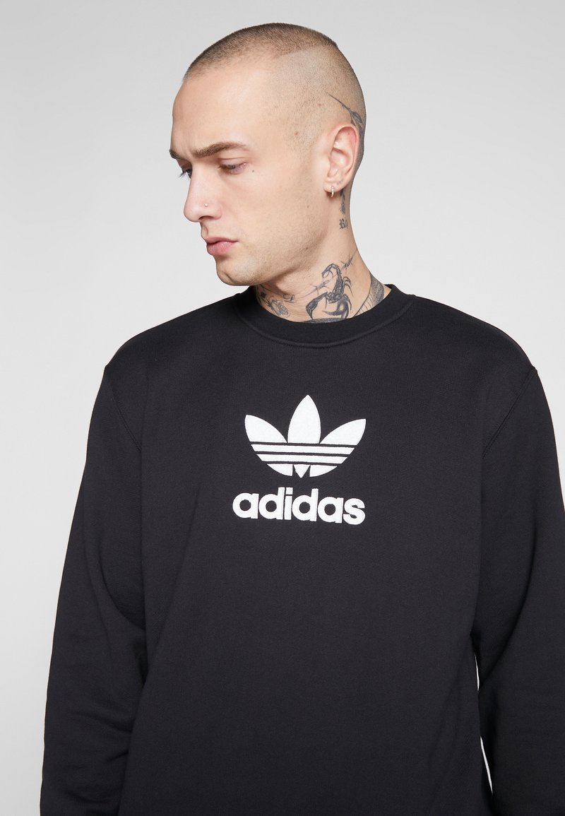 adidas Originals ADICOLOR PREMIUM LONG SLEEVE PULLOVER - Sweatshirt - black/schwarz 337Bwy