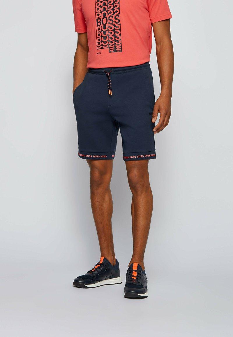 BOSS - HEADLO  - Shorts - dark blue