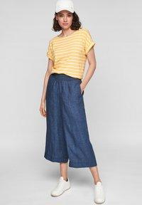 s.Oliver - Trousers - faded blue melange - 1
