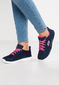 Skechers Sport - GRACEFUL - Trainers - navy/hot pink - 0