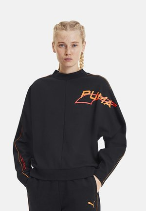 Sweater - black-fizzy orange
