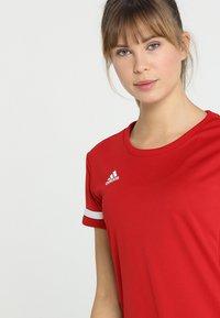 adidas Performance - TEAM 19 - Print T-shirt - power red/white - 3