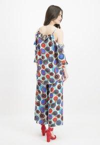 Nicowa - MIT GESCHLITZEM BEIN - Trousers - blue - 2