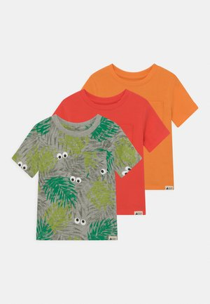 TODDLER BOY 3 PACK - T-shirt z nadrukiem - mango orange