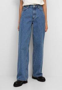 Marc O'Polo DENIM - TOMMA - Straight leg jeans - multi/dark blue salt 'n pepper - 0