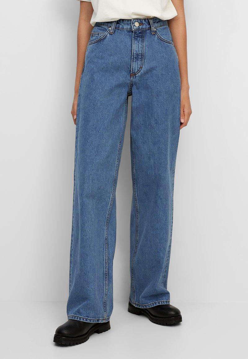 Marc O'Polo DENIM - TOMMA - Straight leg jeans - multi/dark blue salt 'n pepper
