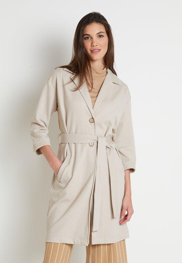Płaszcz wełniany /Płaszcz klasyczny - melange