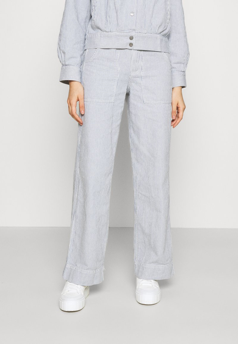 Dedicated - WORKWEAR PANTS - Trousers - blue