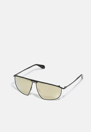 UNISEX - Sunglasses - matte black/brown mirror