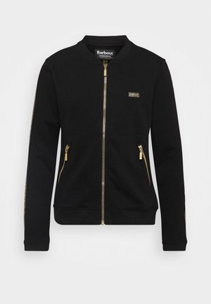 CROFT OVERLAYER - Zip-up hoodie - black