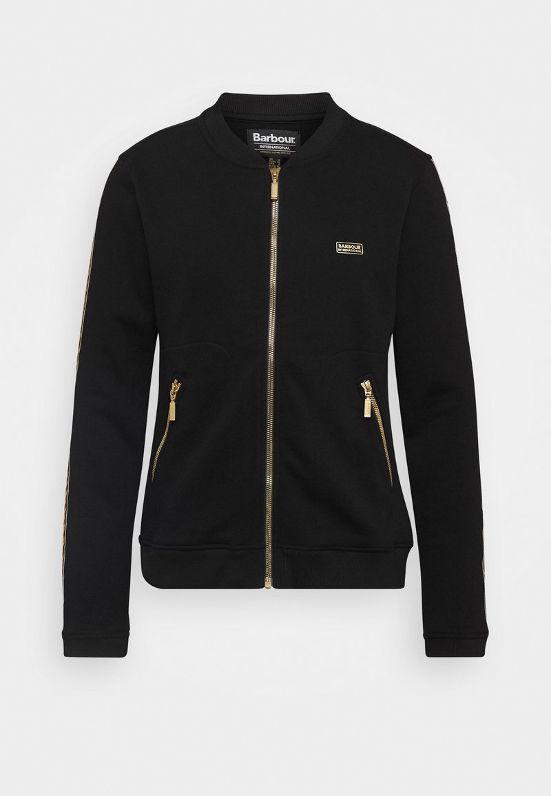 Barbour International - CROFT OVERLAYER - Zip-up hoodie - black