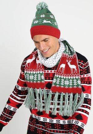 CHRISTMAS SET - Schal - green/red