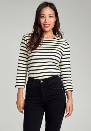 """""""PASSERELLE""""  - Long sleeved top - nature/rich navy"""
