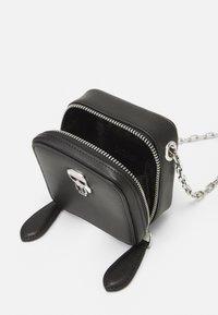 KARL LAGERFELD - IKONIK NANO BOXY - Across body bag - black - 4