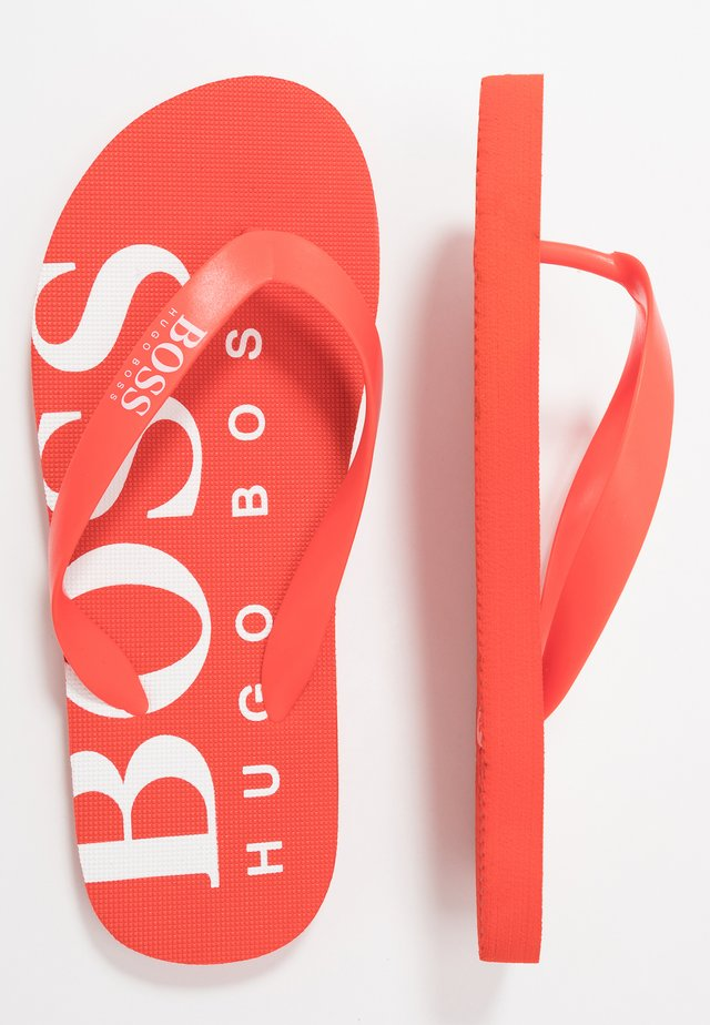 Pool shoes - bright red