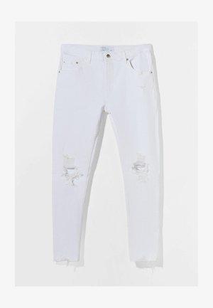MIT RISSEN  - Skinny džíny - white