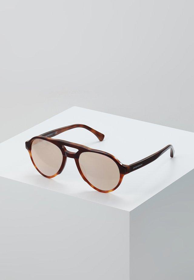 Sonnenbrille - bordeaux/yellow/tort
