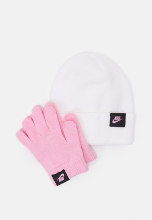 SPARKLE BEANIE AND GLOVES BOX SET UNISEX - Muts - white