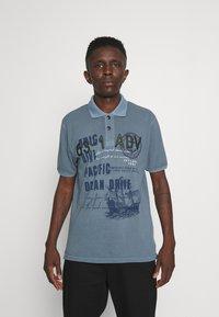 Key Largo - AGENCY - Polo shirt - flintstone blue - 0